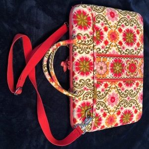 Vera Bradley hard side laptop bag